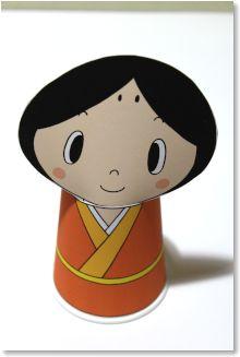 コップで作る かわいい 雛人形 ...