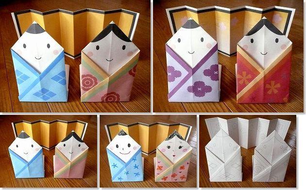 簡単かわいい・折り紙ひな人形 ...