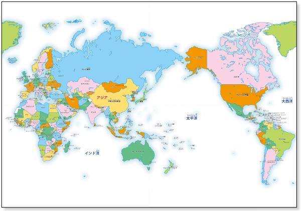 用 世界地図 【カラー/ 国名 ... : 世界地図 国名 プリント : プリント