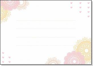 幼児 幼児学習教材 : メッセージカード レース白A4 ...