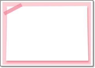 メッセージカード メモ風の枠 ... : メッセージメモ : すべての講義