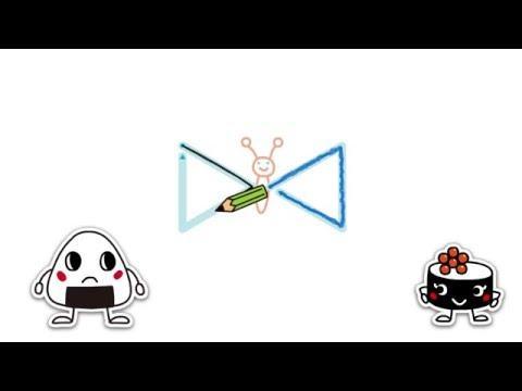 運筆-ちょうちょう 【3歳向け】 三角形をかこう! ★無料プリントあり★