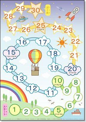 数字すごろく (A4判) : 誕生日 カード 素材 無料 : カード