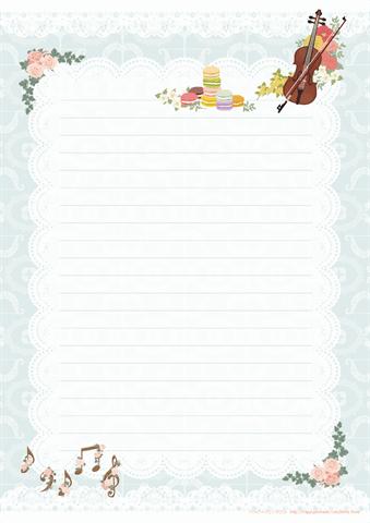 かわいい便箋 A4a5サイズ 無料ダウンロード印刷ハッピーカレンダー