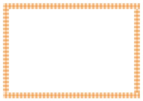 メッセージカードシンプルなチェックの枠 無料ダウンロード幼児
