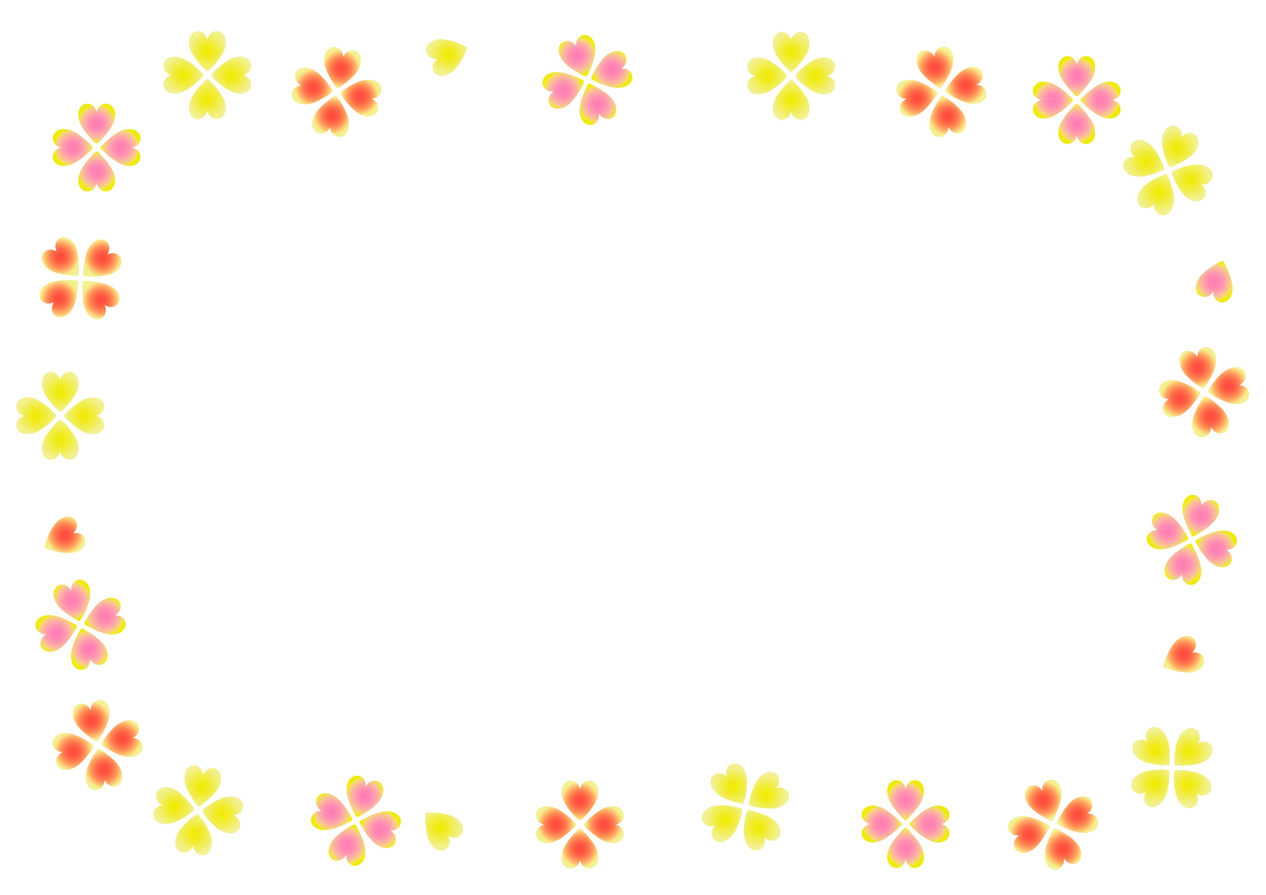 メッセージカード枠 Word等 挿入用 テンプレート イラスト画像 無料