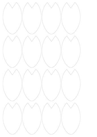 桜の花びらの型紙 ダウンロード印刷幼児教材知育プリント