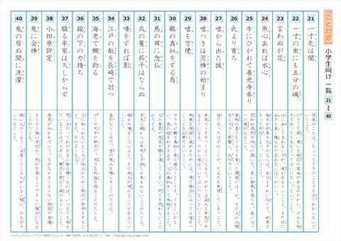中学・高校 漢字練習プリント 【21】~【40】