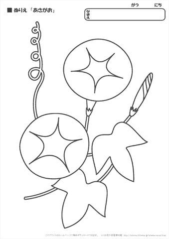ぬりえ 草花幼児教材知育プリントちびむすドリル幼児の学習