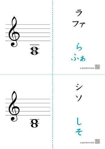 音楽の基礎知識「和音(2音・3音|ト音記号・へ音記号)」フラッシュ ...