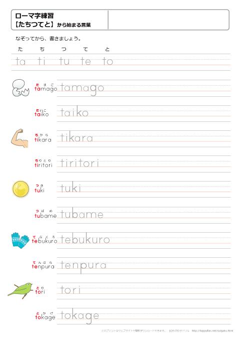 練習 ローマ字