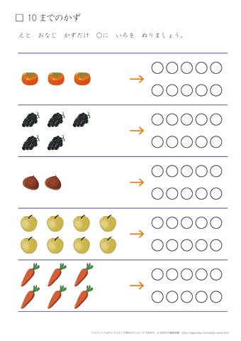 数・数字の練習プリント(1)|幼...