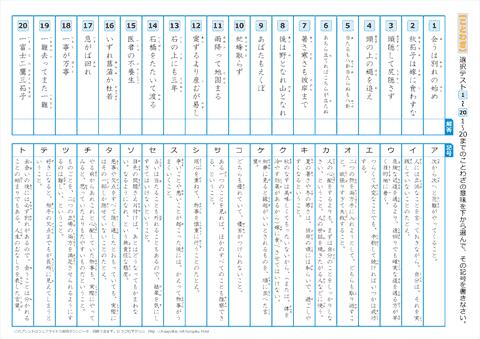 ことわざ 選択テスト 問題 【1】~【220】