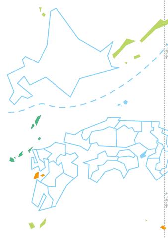 日本地図パズルの台紙 北海道 ...