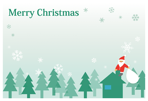 クリスマスカードサンタクロース 無料ダウンロード幼児教材知育