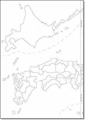 白地図(日本地図) 都道府県 ...