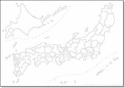 白地図(日本地図) 無料 ... : 西日本 地図 無料 : 日本