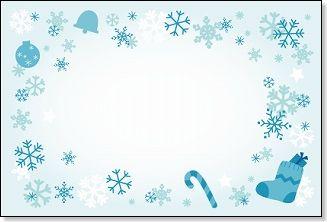 クリスマスカード【ブーツと雪 ... : 知育 プリント : プリント