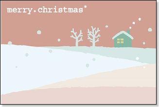 クリスマスカード【雪景色 ... : クリスマスカード イラスト : イラスト